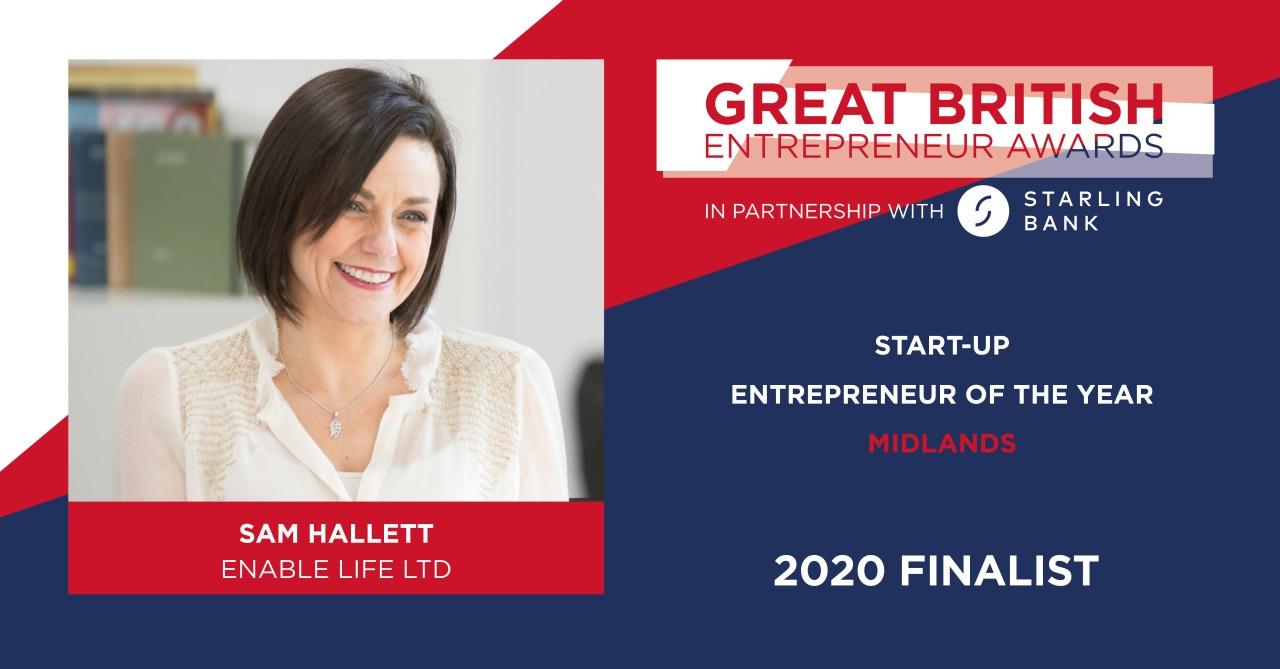 Awards - Businesswoman Shortlisted for Start-Up Entrepreneur of the Year Honour